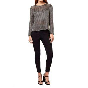 Topshop Chainmail Long Sleeve Top Petite Size 4